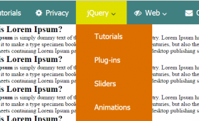 Create CSS and jQuery responsive menu/navigation