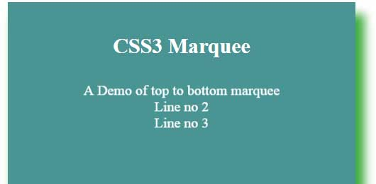 CSS3 marquee bottom