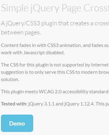 2 Demos of CSS3/jQuery fade effect between web pages