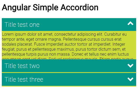 angular JS accordion