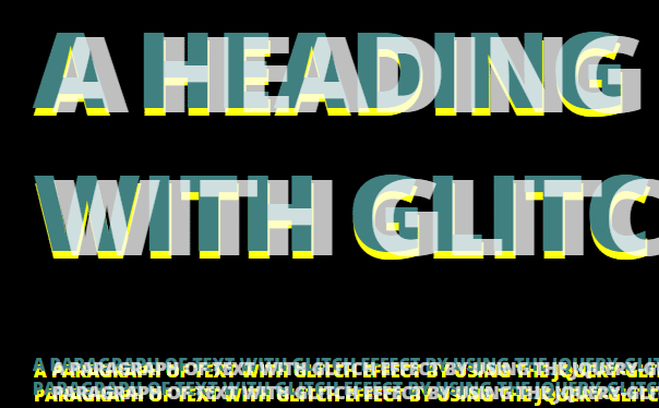 Create glitch effect in text by using jQuery