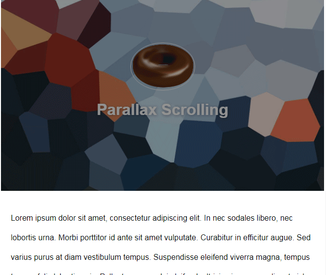 JavaScript Parallax on scrolling with fading effect in header