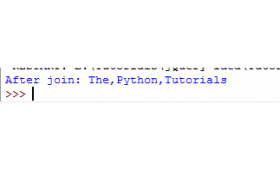 Convert a list to string in Python by join method