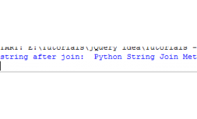 What is Python join method?