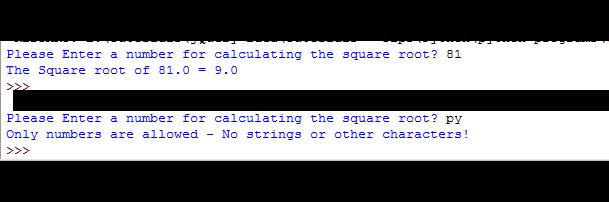 input sqrt