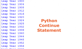 What is Python continue statement?