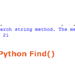 The Python string find method – search in strings