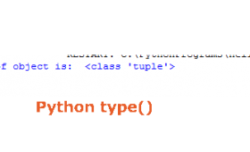 What is type() function with single argument?