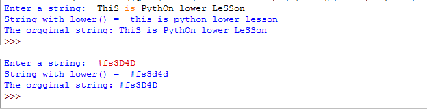 lowercase input