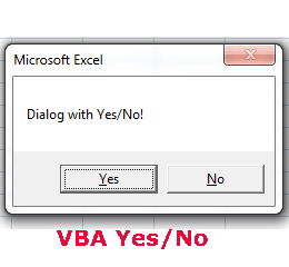 Learn VBA MsgBox (5 Examples): Yes/No, Ok, Cancel and other options