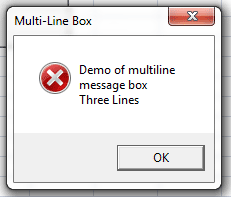 msgbox multi line box