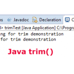 What is Java trim method?