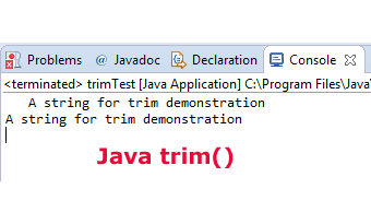 How to remove spaces by Java trim string method: 3 Examples