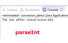 Java String to int conversion by parseInt and valueOf methods