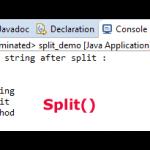 What is Java split method?