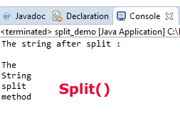 What is Java split method?