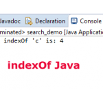 The string indexOf method in Java