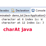What is Java charAt method?