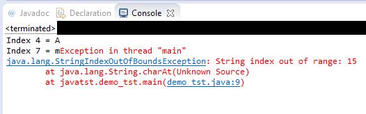 charAt string error