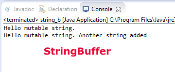 Java StringBuffer