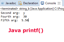What is printf method in Java?