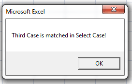 VBA Select Case