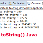 Definition of Java toString() method