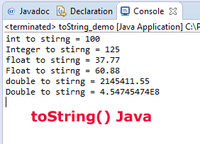 Java toString
