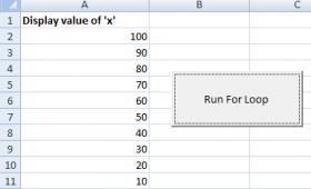 The For loop in Excel VBA