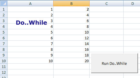 Excel VBA do. while loop