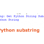Getting substring in Python
