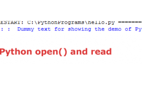 Python open() function to perform read/write operations in files
