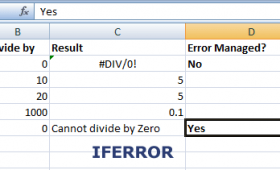 What is the purpose of IFERROR function?