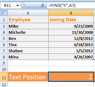 find function in excel  11 Examples to Learn Excel Find and Search Functions (Minor Difference)