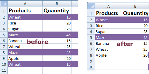 Excel duplicate bef a