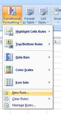 Excel new rule