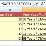 4 Ways of How to Calculate Age in Excel (Years, Months and Days)