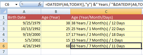 age-calculate years month days