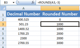 How to round numbers in Excel?