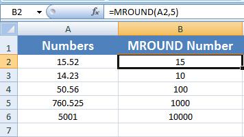 Excel MROUND