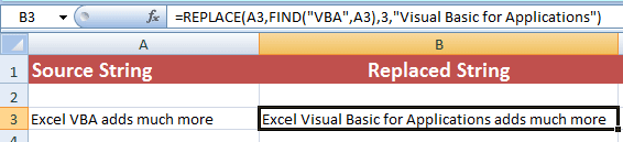 Excel REPLACE FIND
