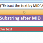 Functions to get substrings in Excel
