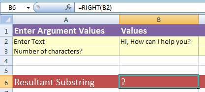 Excel RIGHT 2