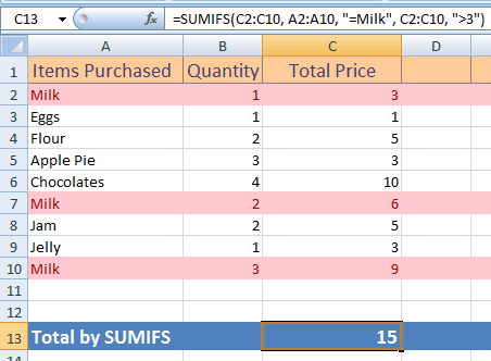 How to use excel sumifs for multiple criteria excel sumifs ibookread Read Online