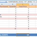 The SUMIFS Function in Excel