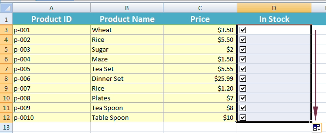 3 Examples of Inserting Excel Checkbox / Tick box