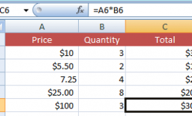Doing Multiplication in Excel