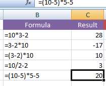 How to subtract in Excel?