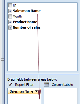 pivot table filter