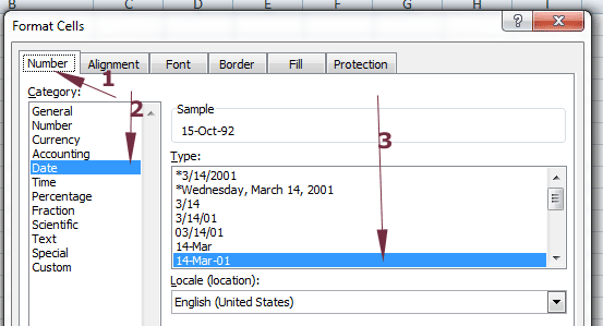 Date format excel not working